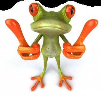 Довольная лягушка